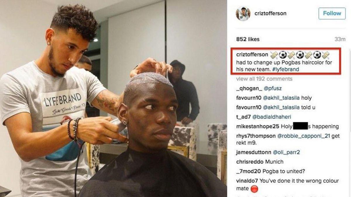 Peluquero de Paul Pogba comete error de su vida en Instagram y revela futuro club del jugador
