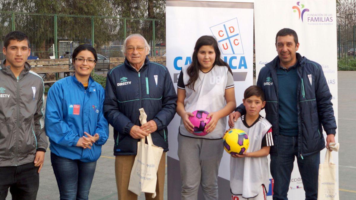 Universidad Católica participó en actividad deportiva con Fundación de Las Familias