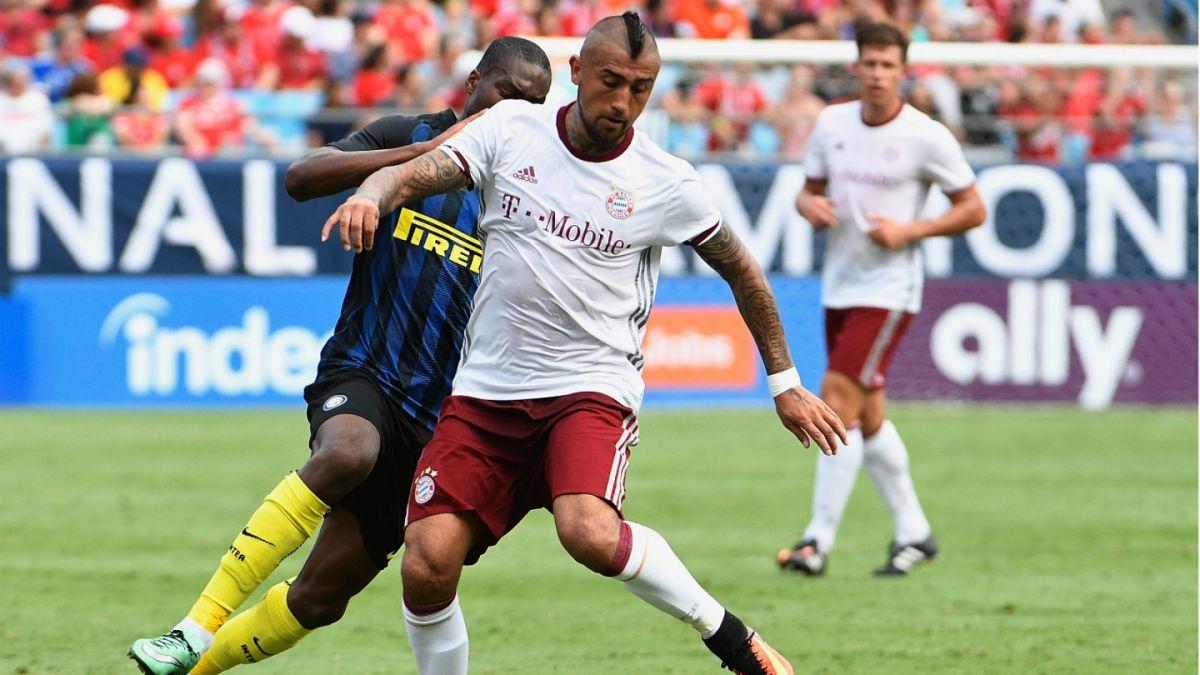 Arturo Vidal fue titular en triunfo del Bayern Münich sobre el Inter de Milán
