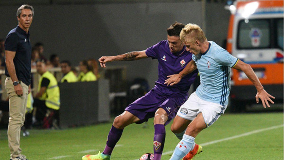 Díaz y Orellana ven acción en triunfo del Celta sobre la Fiorentina de Matías Fernández