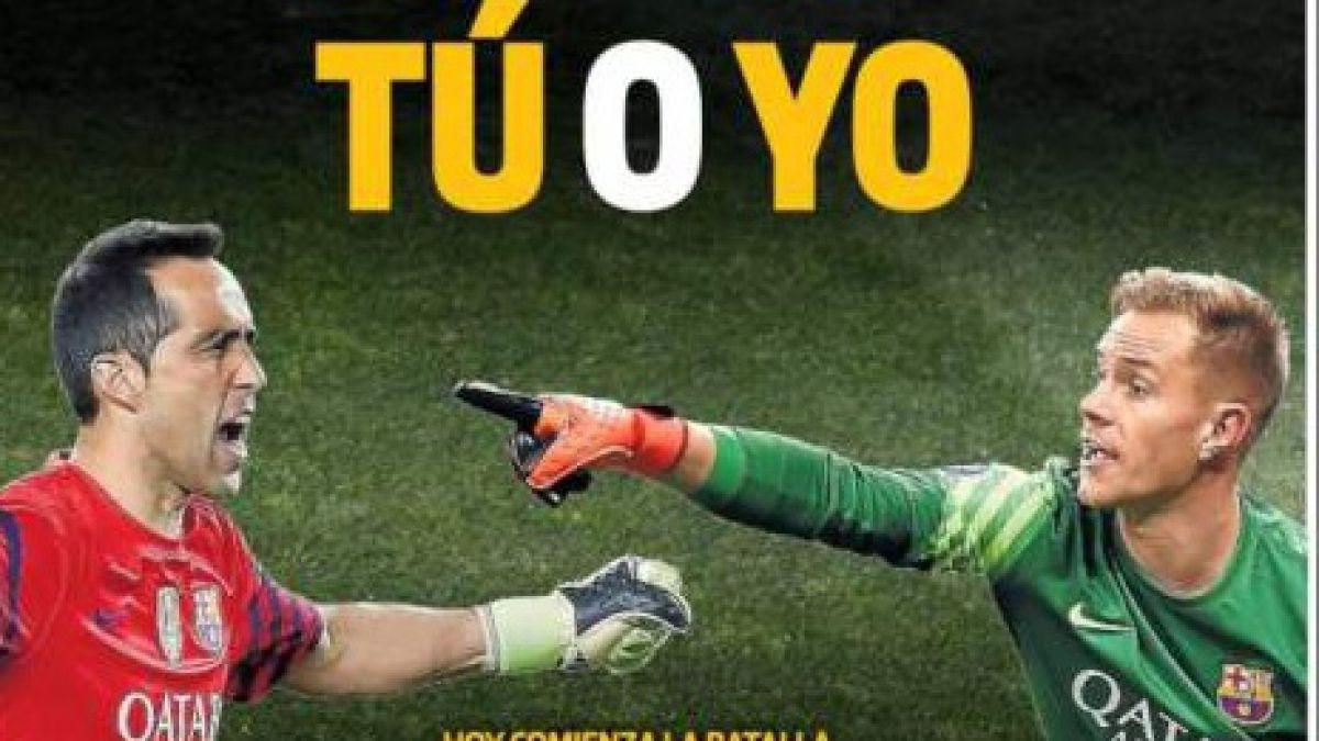 La portada que refleja el duelo Bravo-Ter Stegen por el arco del Barcelona