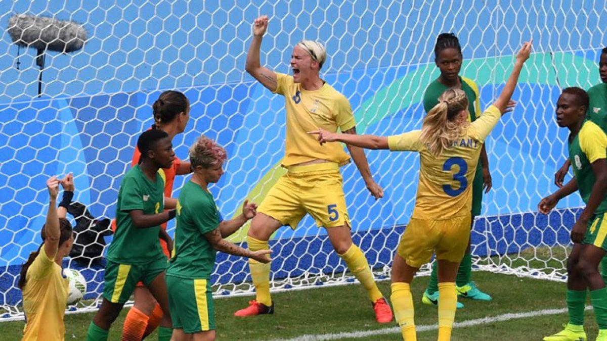 Suecia vence a Sudáfrica en apertura del fútbol femenino de Rio 2016