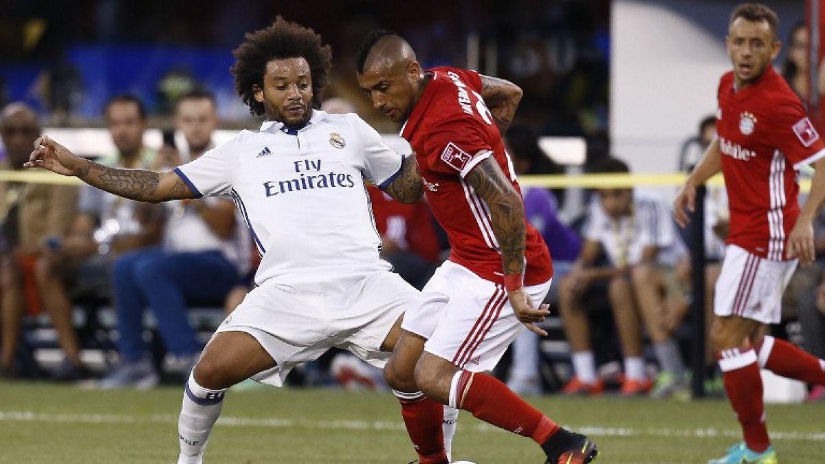 Arturo Vidal fue titular en derrota del Bayern ante Real Madrid