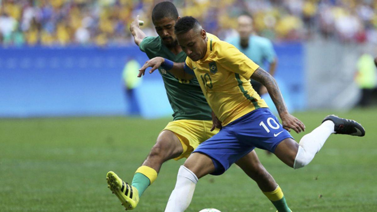 Brasil de Neymar en deuda en debut olímpico al empatar 0-0 con Sudáfrica