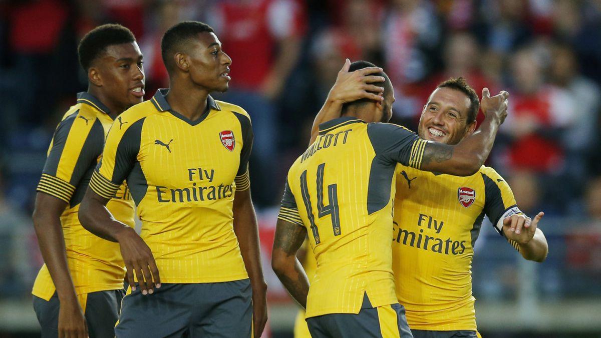 Arsenal logra apabullante goleada en amistoso de pretemporada