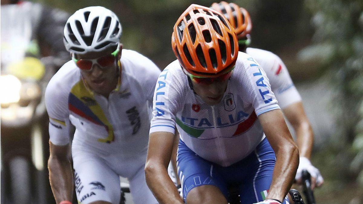 Ciclista italiano se rompe la clavícula en prueba de ruta de Río 2016