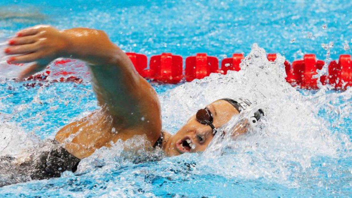 Kristel Köbrich termina en el cuarto lugar su serie clasificatoria en los 400 metros libres