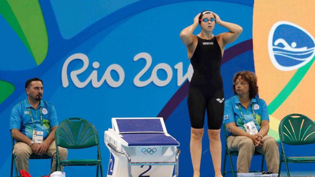 Nadadora Kristel Kobrich envía mensaje de apoyo a gimnasta Simona Castro en Río