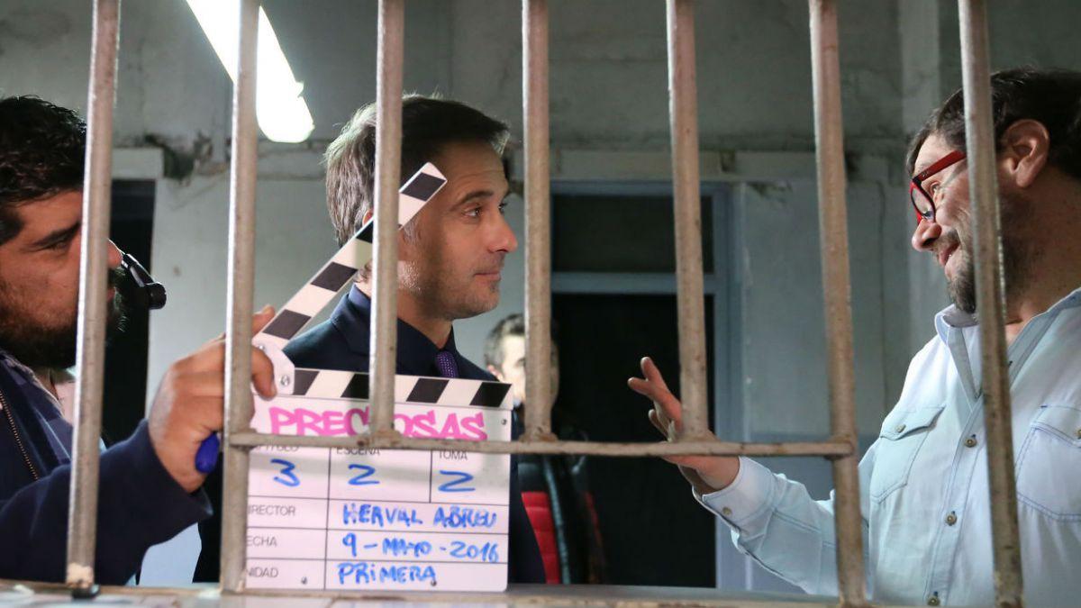 Paulo Brunetti recibe instrucciones del director Herval Abreu