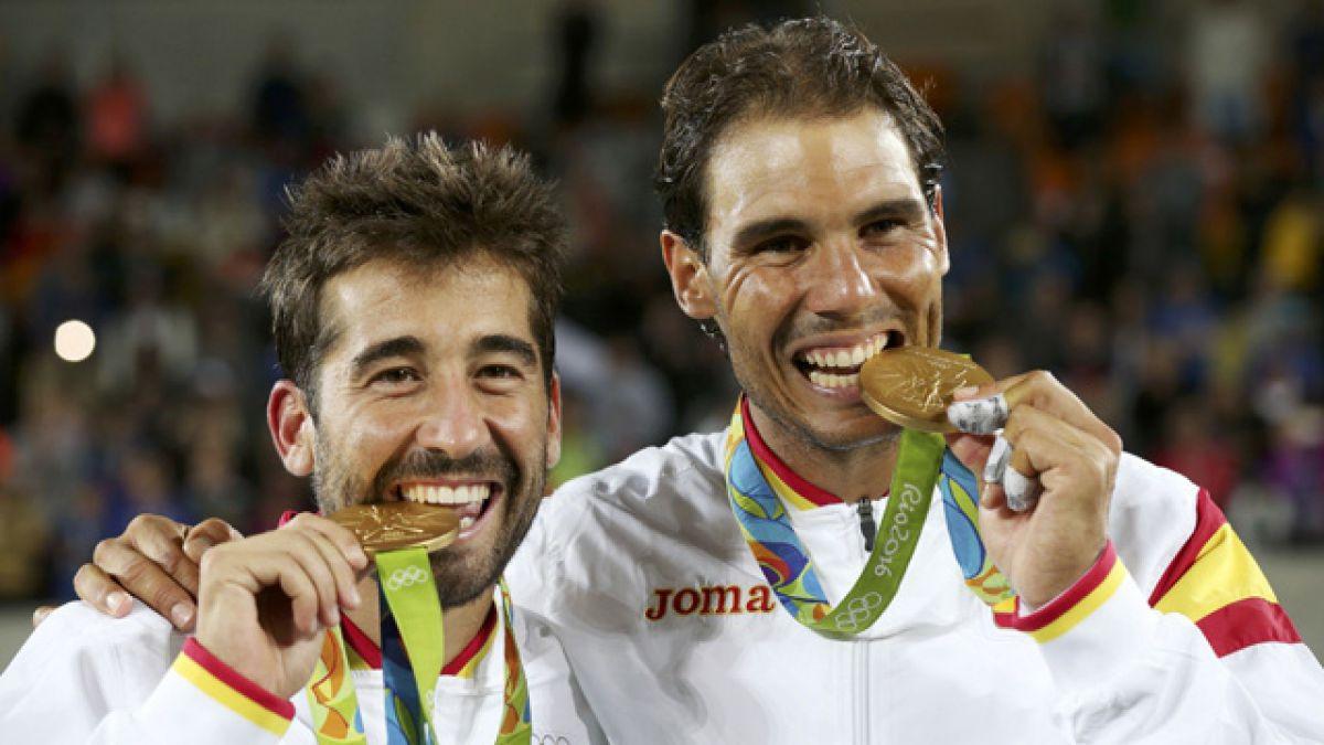 Españoles Rafael Nadal y Marc López ganan el oro en el dobles masculino de Río 2016