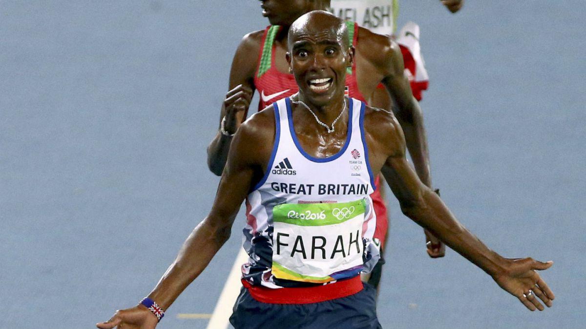 Británico Mo Farah gana en los 10.000 metros y retiene su título olímpico en Río 2016