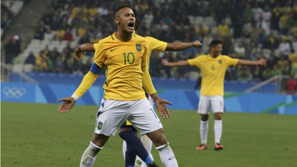 Brasil supera a Colombia en un áspero duelo y se instala en semifinales del fútbol olímpico