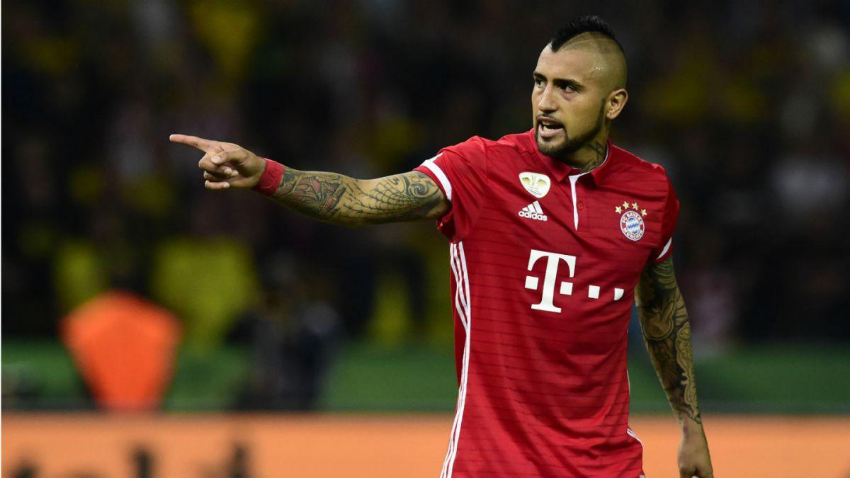 [Gol a Gol] Bayern Münich derrotó al Dortmund con gol de Arturo Vidal