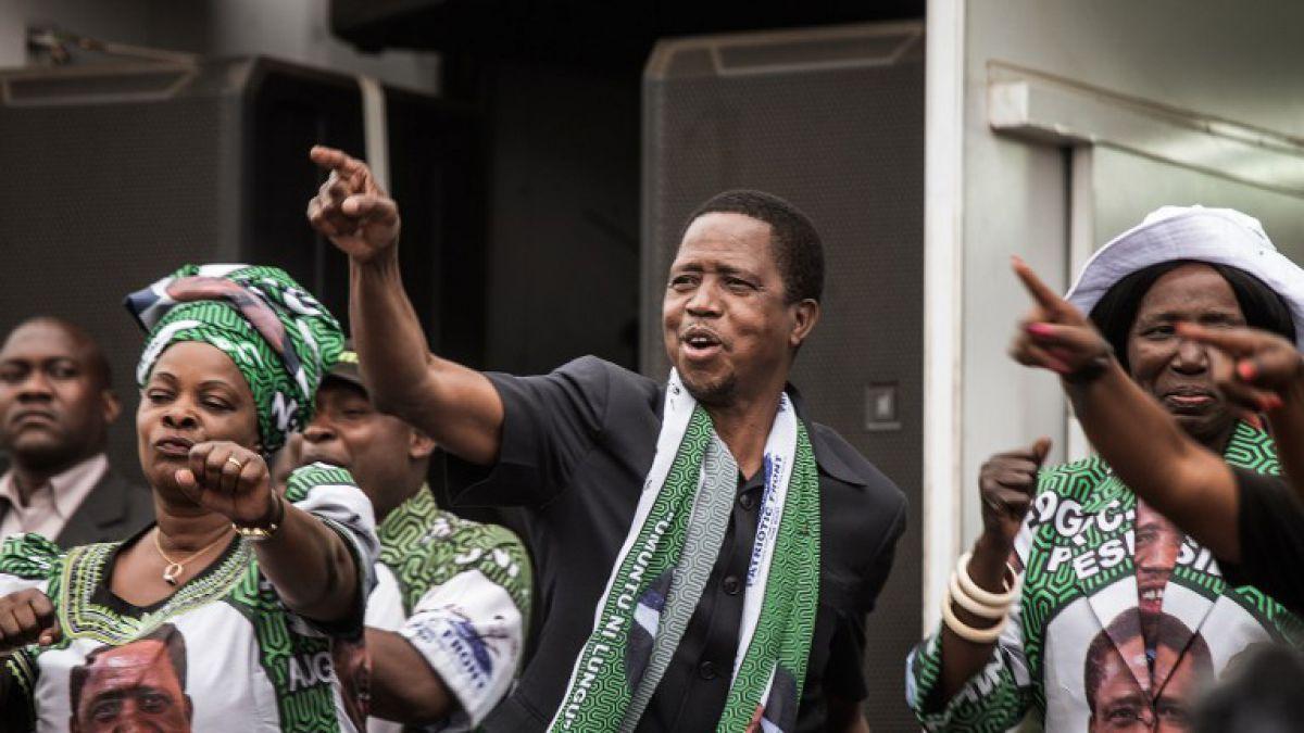 Presidente de Zambia Edgar Lungu reelecto en la primera vuelta
