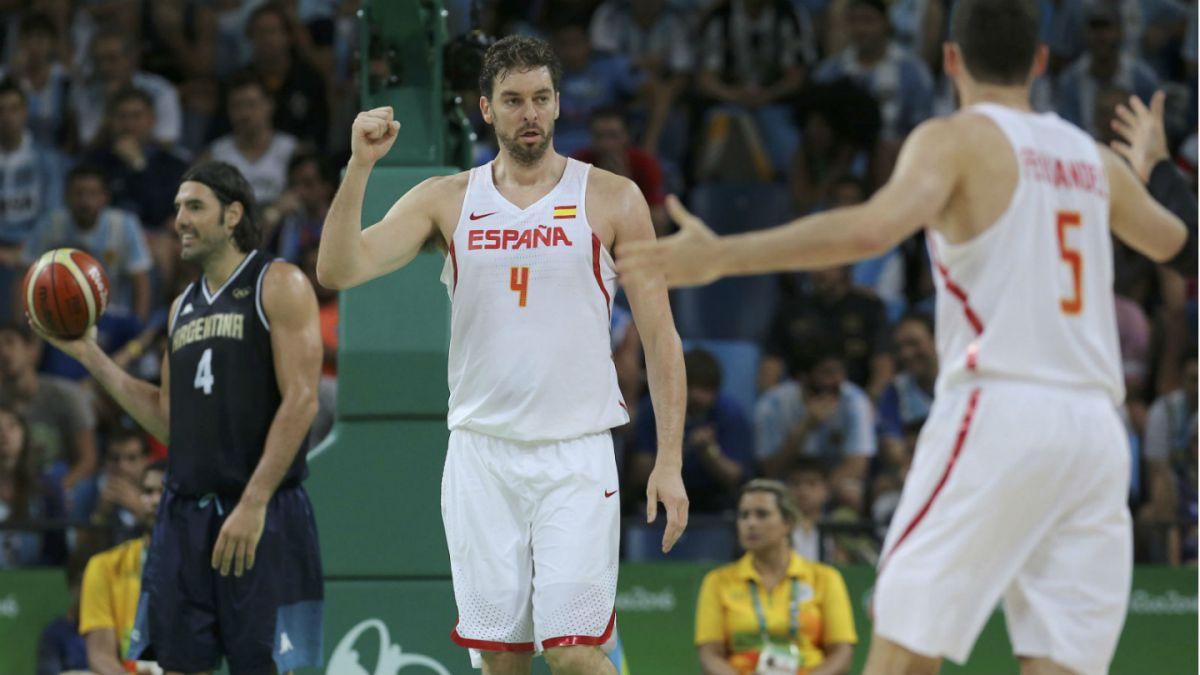 España derrota a Argentina y deja fuera a Brasil del básquetbol olímpico en Río 2016