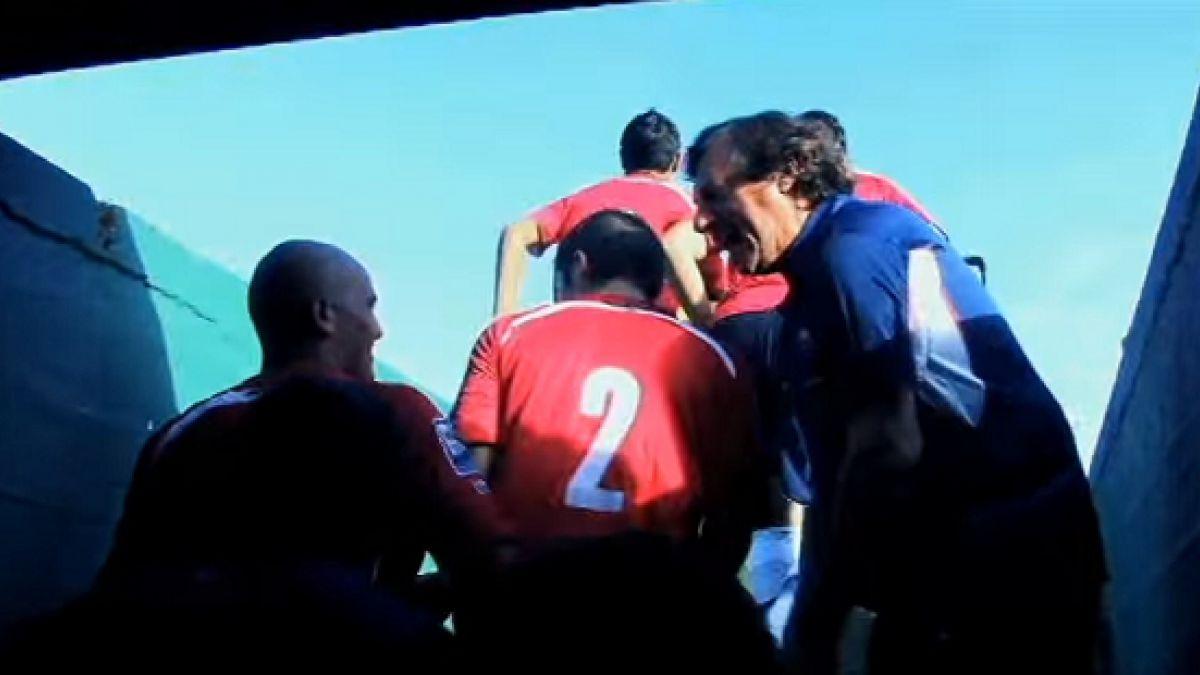 [VIDEO] El día en que Bonini emuló en Chile su recordada expresión dirigida a Suazo en 2007