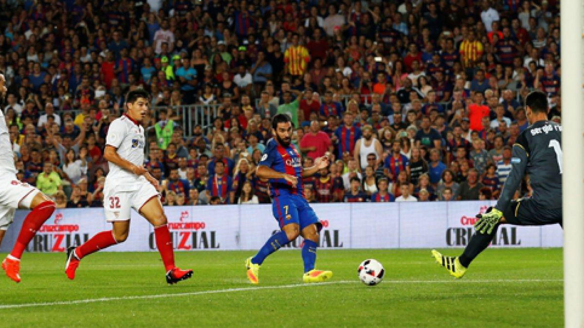 [Gol a Gol] Barcelona con Bravo de titular le está ganando al Sevilla de Sampaoli