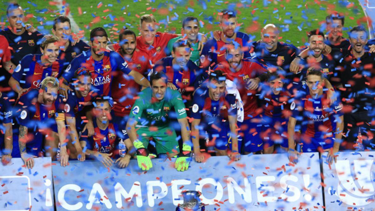 FC Barcelona y Claudio Bravo conquistan la Supercopa de España