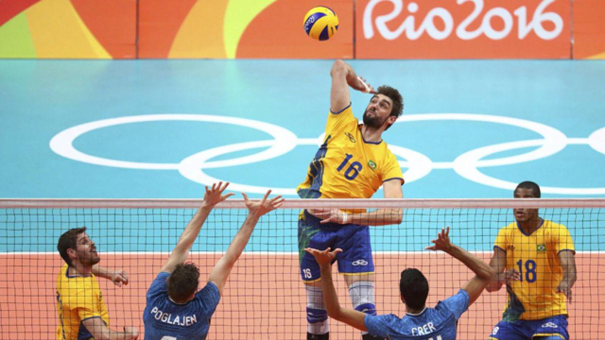 Brasil vence a Argentina y avanza a semifinales del voleibol masculino