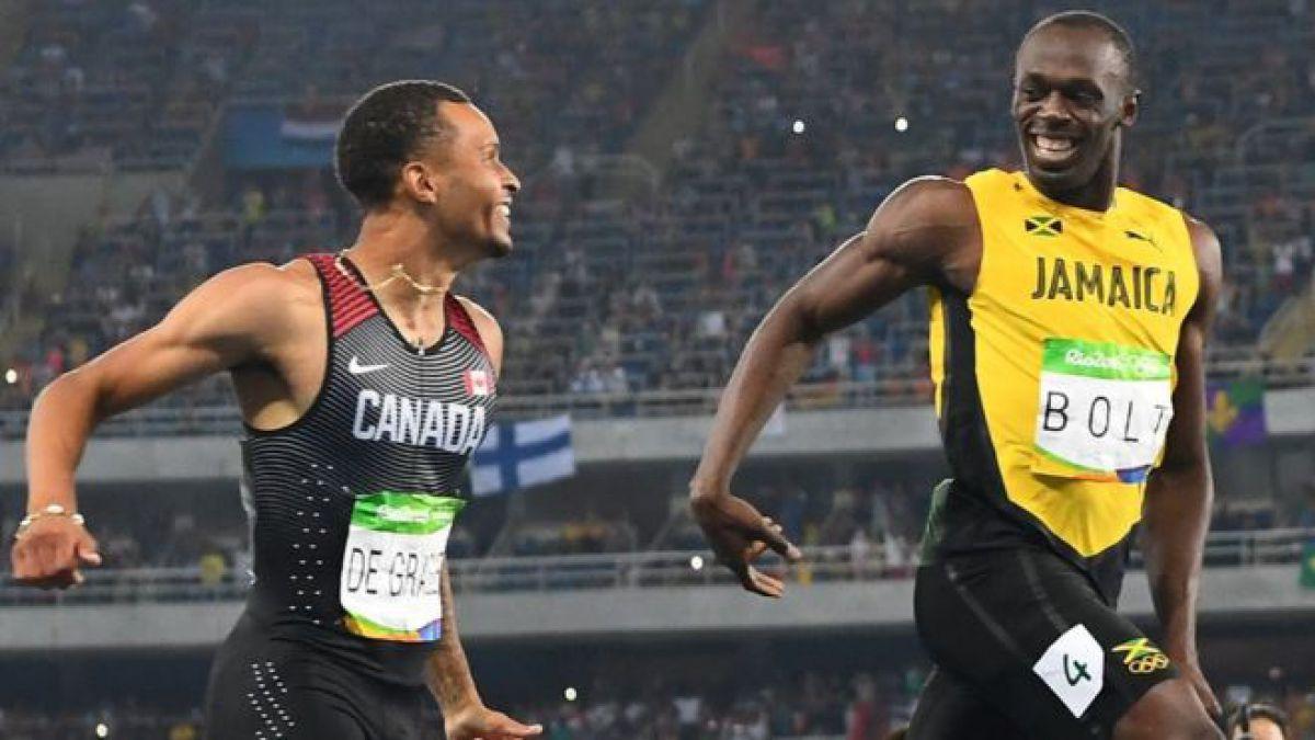 Bromeando pero en serio: Usain Bolt responde con sonrisa al desafío de su rival en la semifinal