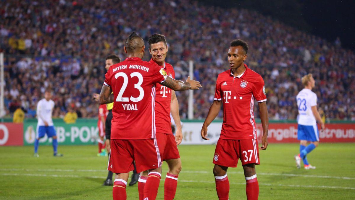 Arturo Vidal se hizo presente en el marcador en goleada del Bayern por Copa de Alemania