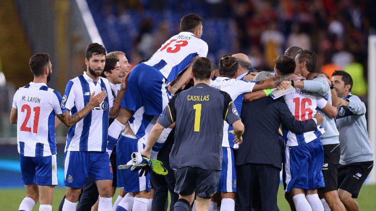 Porto golea a la Roma y se une a cinco clasificados a fase de grupos de la Champions