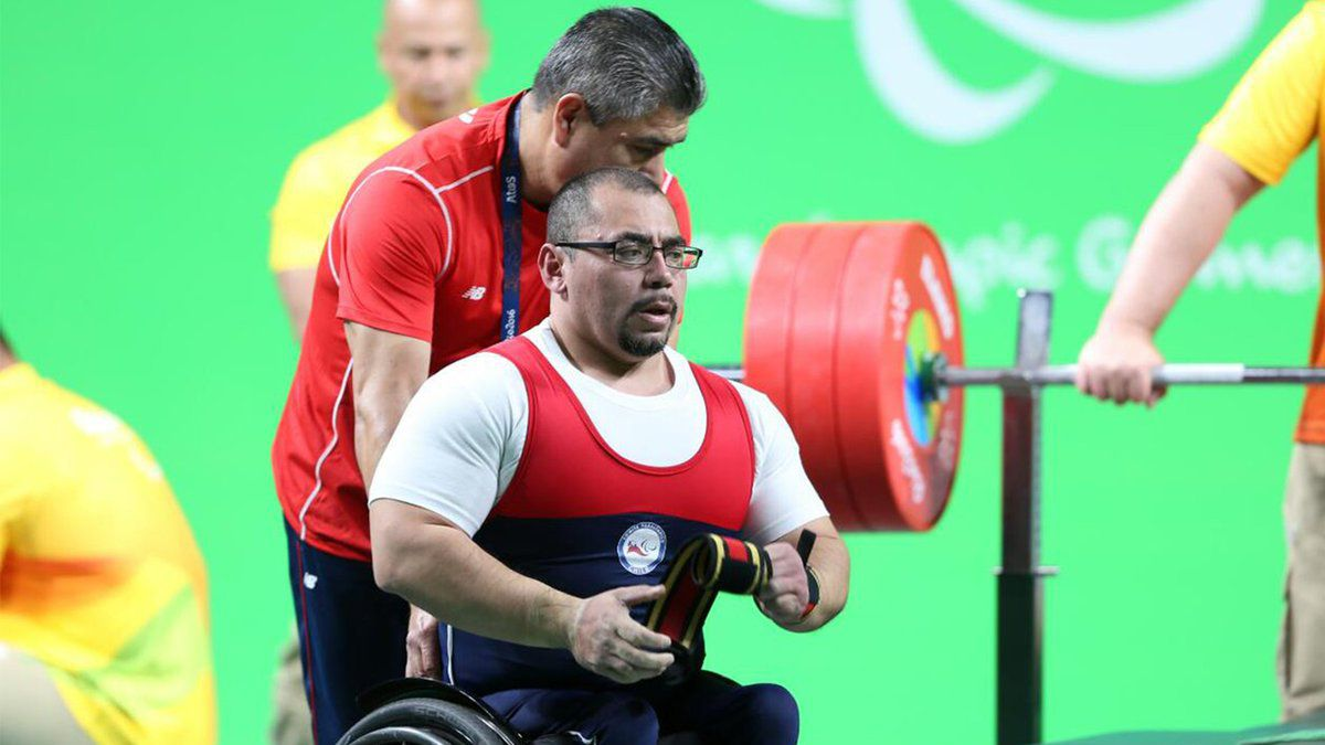 Pesista chileno Juan Carlos Garrido no pudo registrar marca en Juegos Paralímpicos