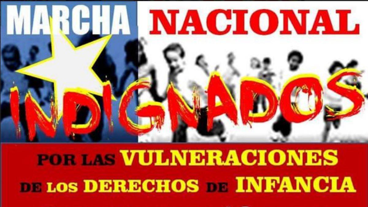 """Marcha por """"la vulneración de los derechos de la infancia"""" se desarrolló en varias ciudades"""
