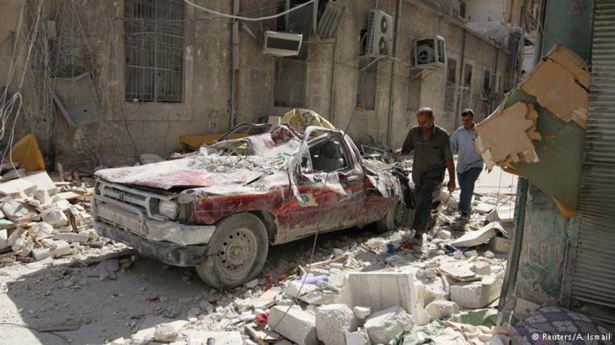 Terroristas al límite en Alepo, Siria