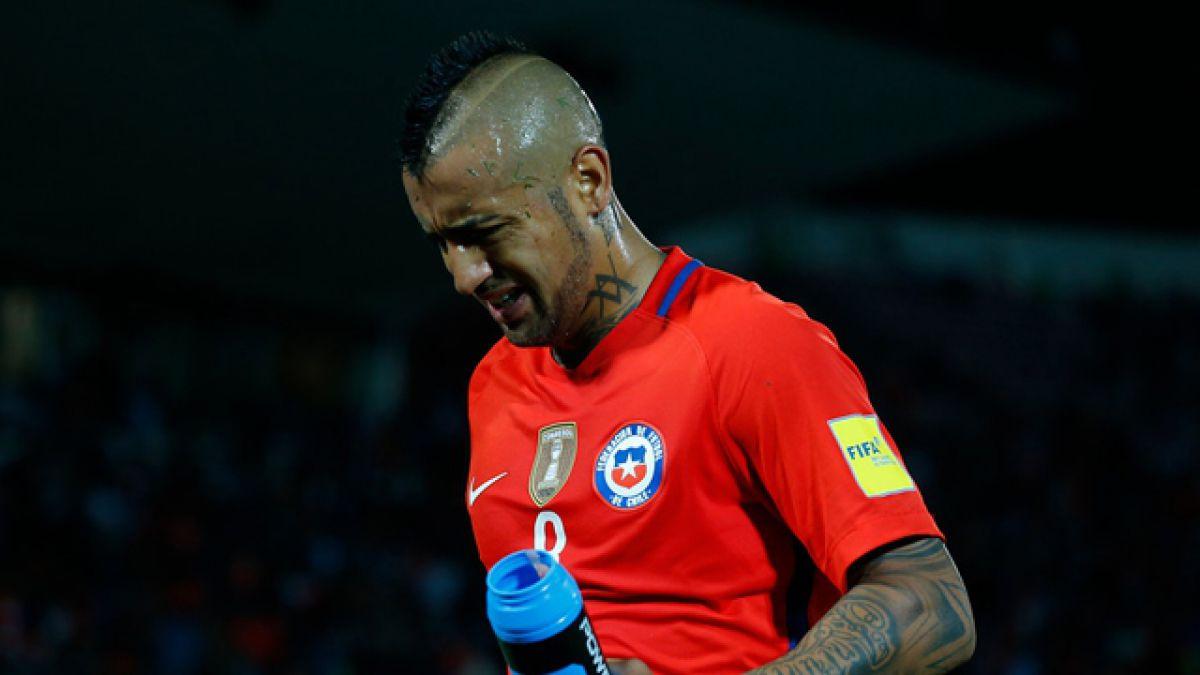 Arturo Vidal sigue complicado por lesión