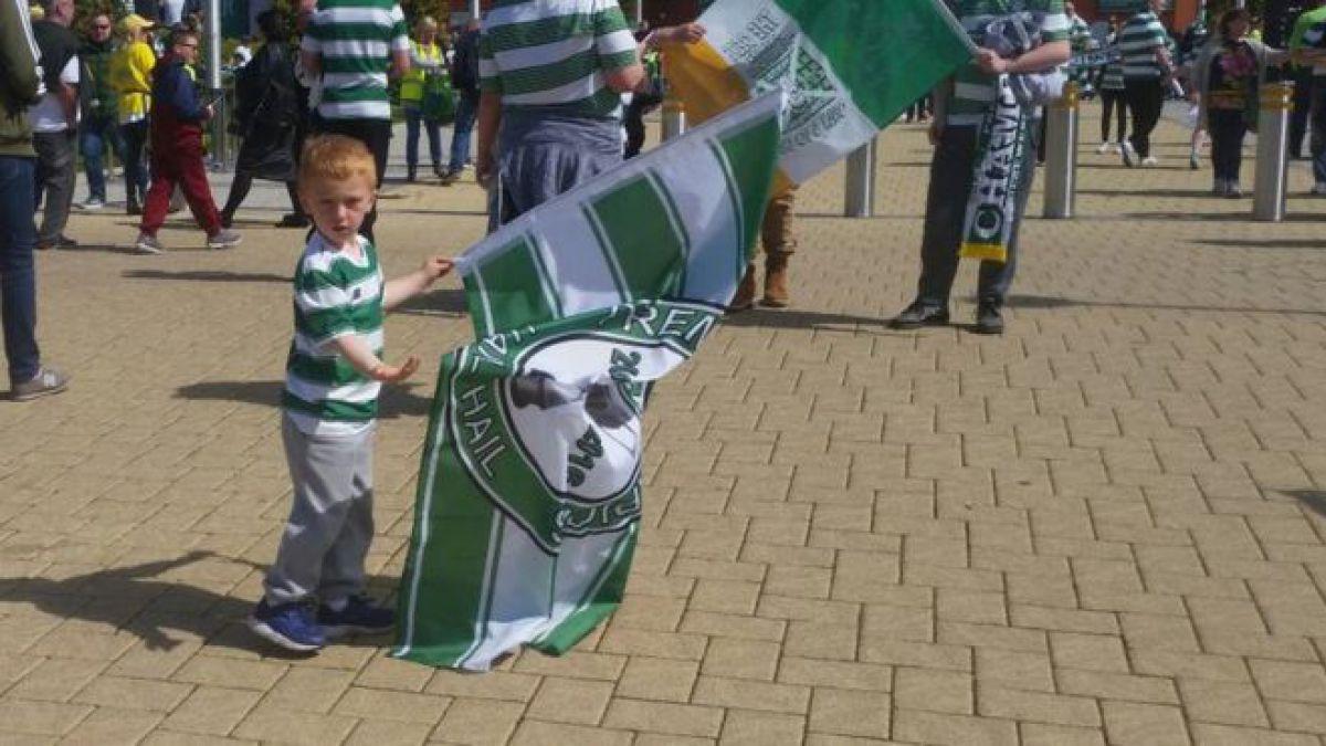 Niño pide perdón por perderse victoria del Celtic