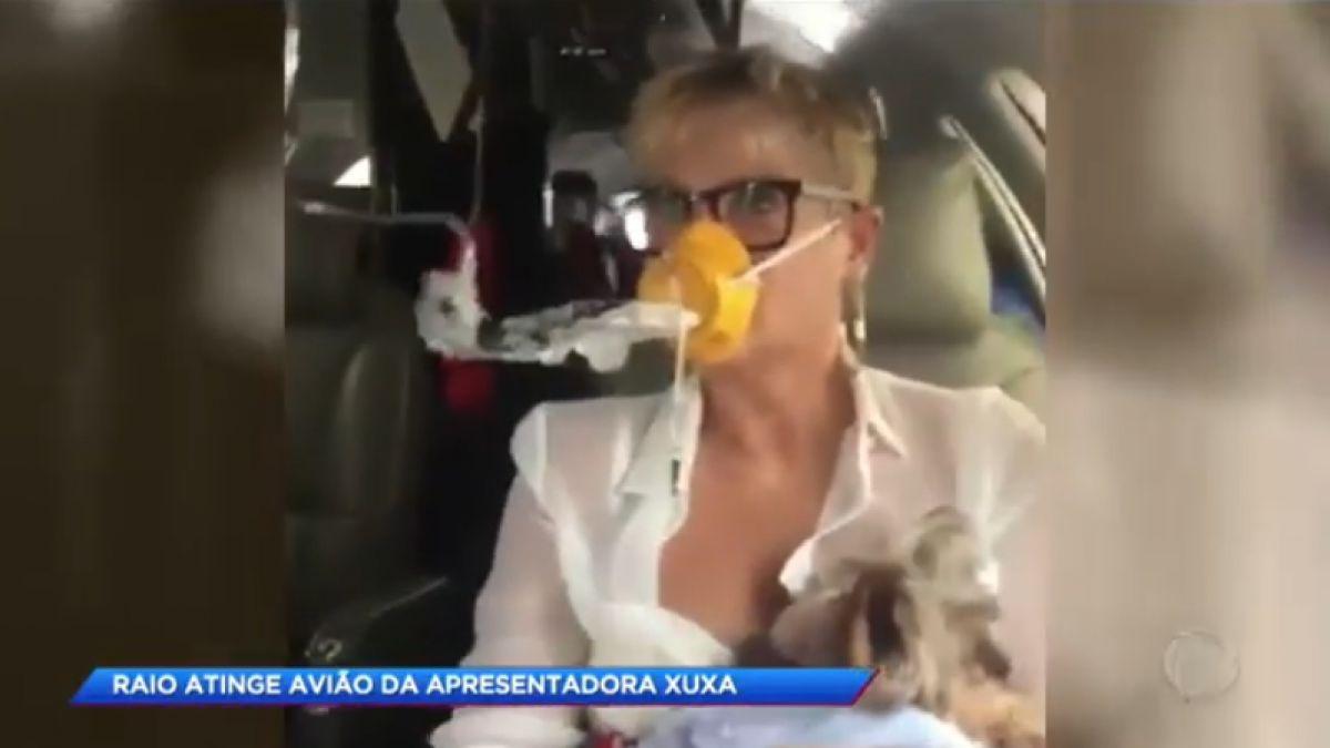 Cayó un rayo sobre el avión de Xuxa y aterrizó de emergencia