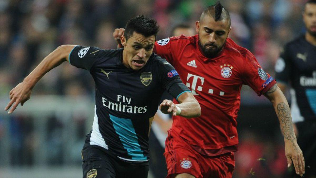 Alexis Sánchez vs Arturo Vidal: Arsenal y Bayern chocarán en octavos de Champions League