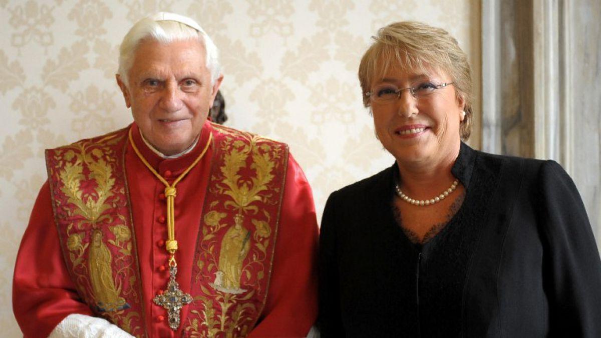 """Benedicto XVI: """"Bachelet es atea y marxista, pero percibí en ella una voluntad ética básica"""""""