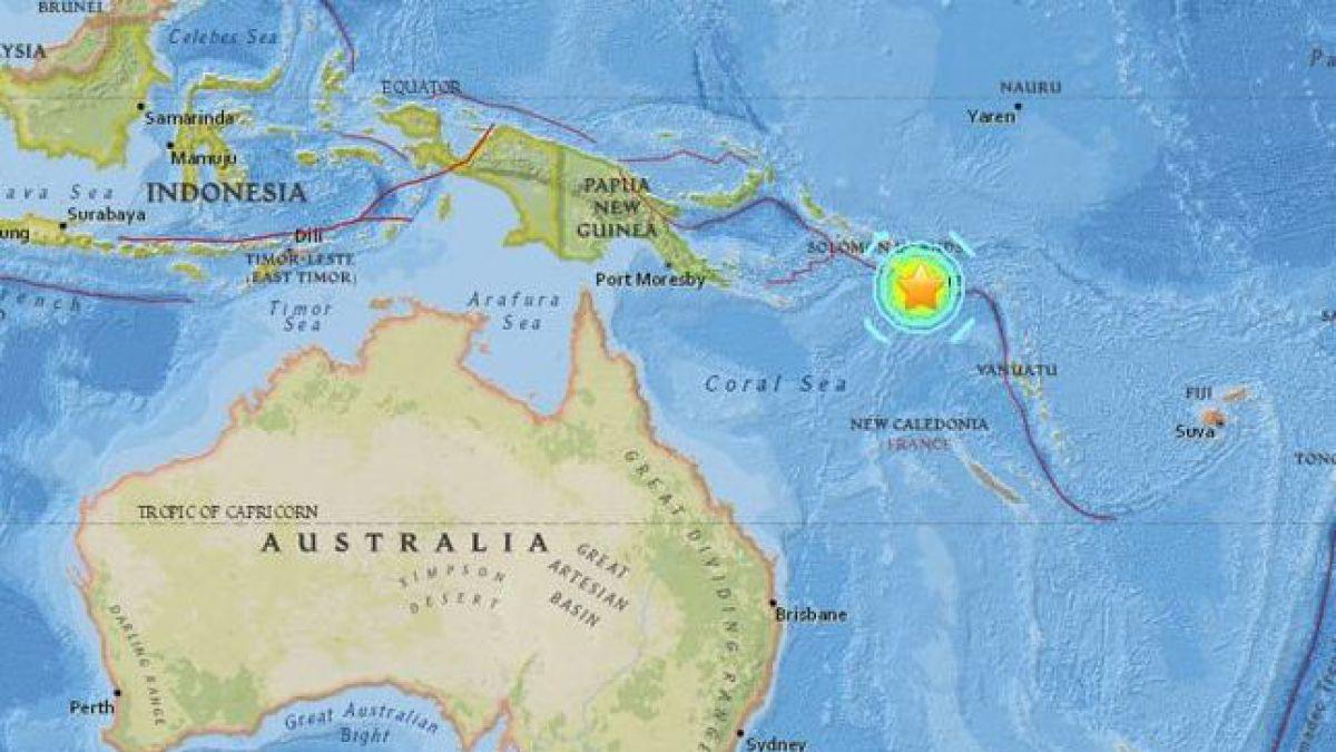 Terremoto de magnitud 7,9 sacude Papúa Nueva Guinea