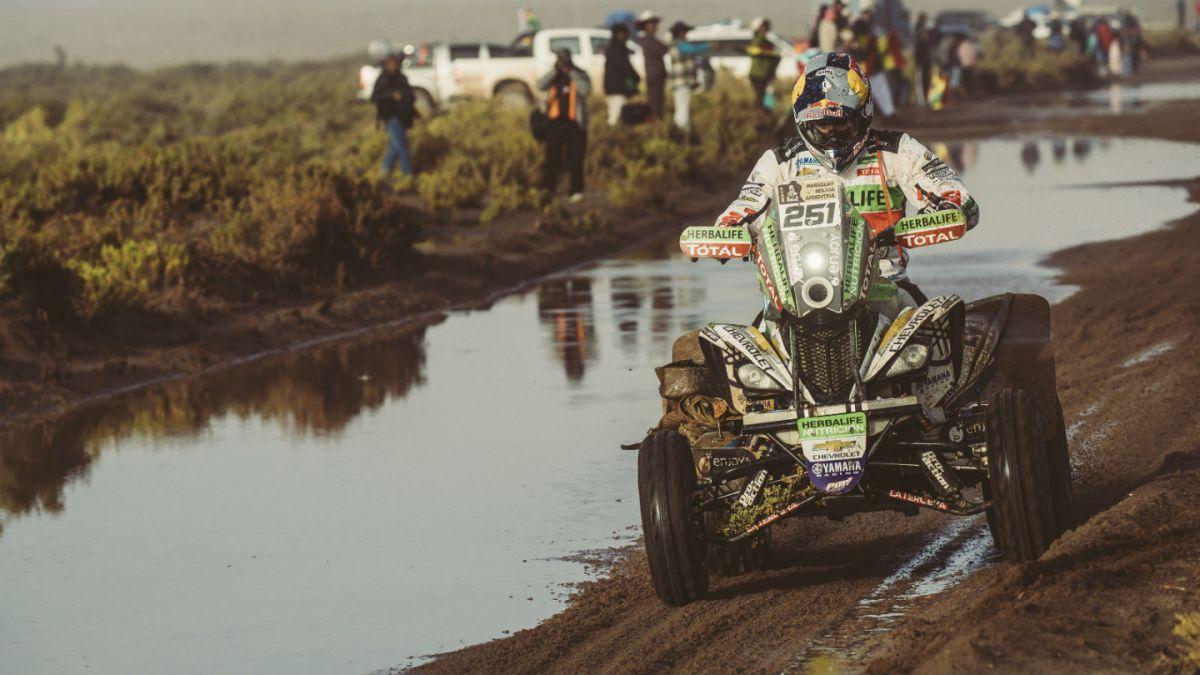 Copetti en el podio de los cuatriciclos del Dakar 2017