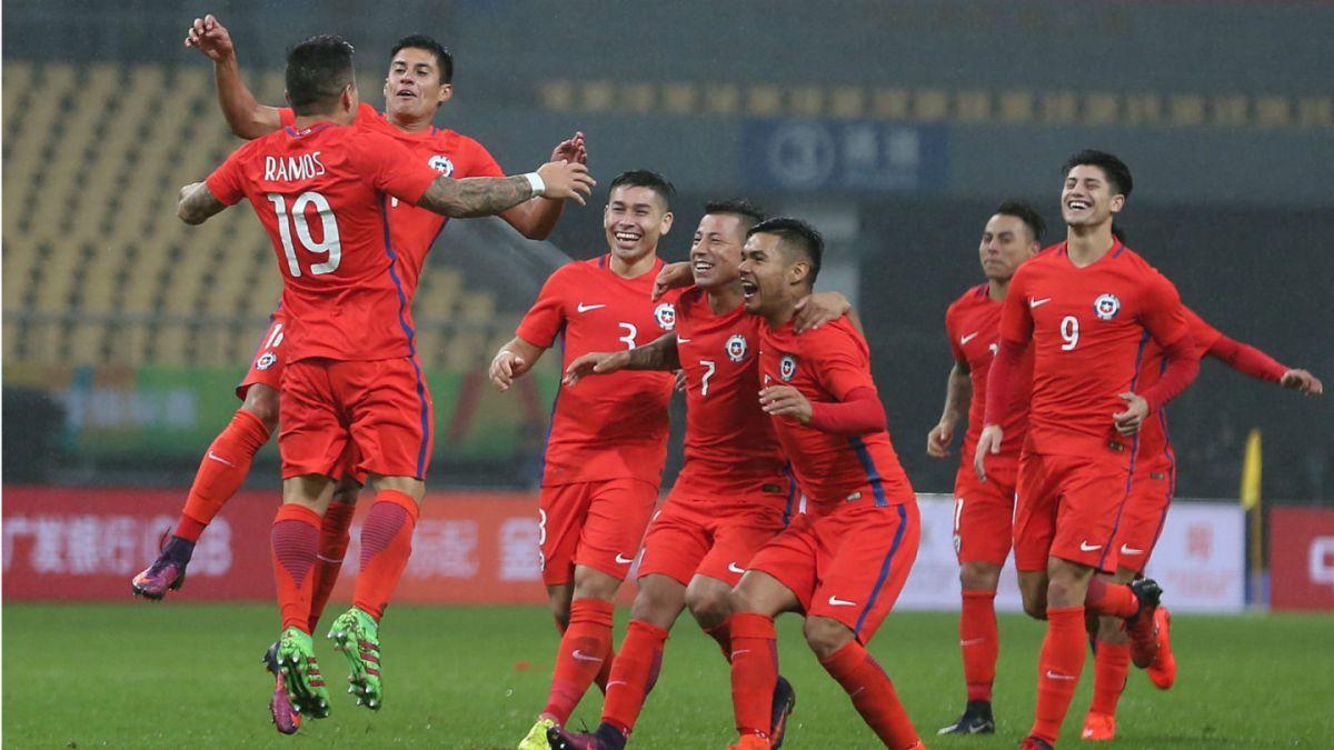 La celebración de los jugadores de 'La Roja'.