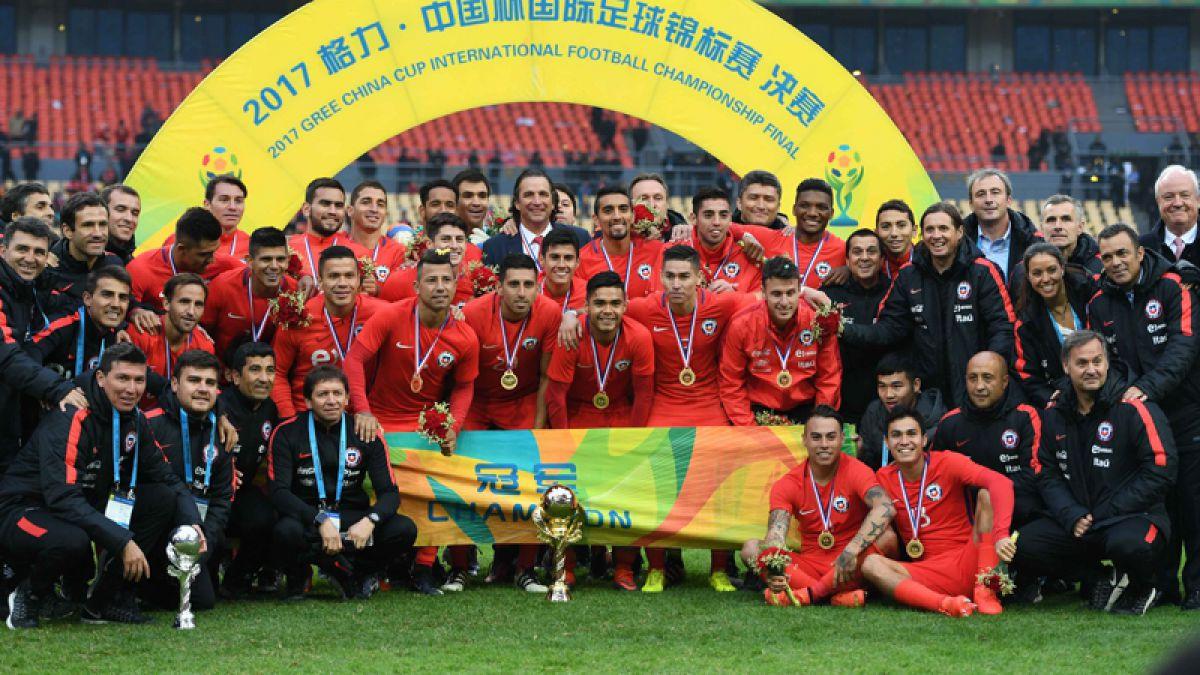 Las felicitaciones a la selecci³n chilena por ganar la China Cup