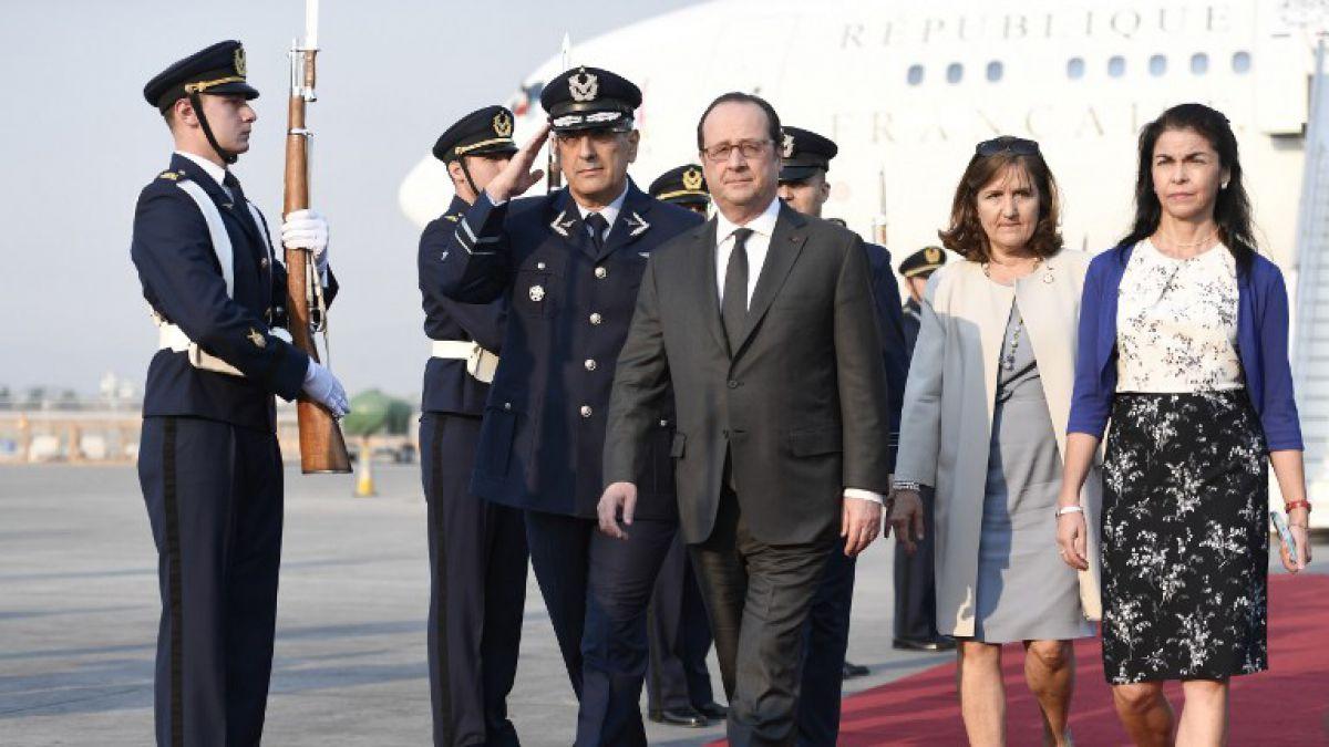 Hollande abre en Chile su última gira por América Latina