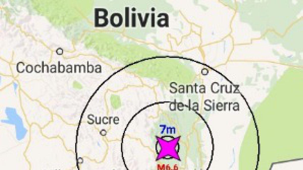Sismo de magnitud 6,8 afecta a Bolivia