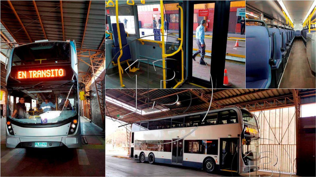 Al estilo de Londres: Así serán los nuevos buses del Transantiago