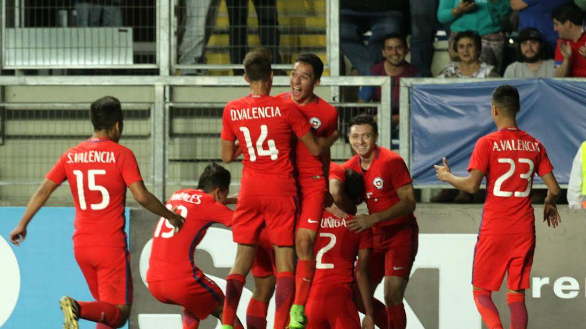 """""""La Roja"""" Sub 17 vence a Ecuador y timbra los pasajes al Mundial de India"""