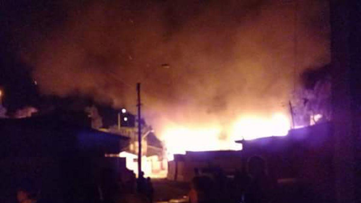 Cinco personas mueren tras incendio de vivienda en Vallenar