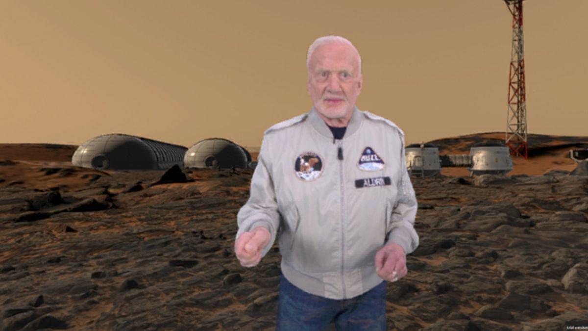 La película muestra una visión de cómo sería una colonia humana en Marte.