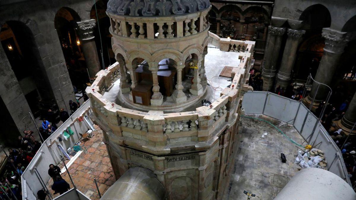 La tumba de Jesús en la Iglesia del Santo Sepulcro