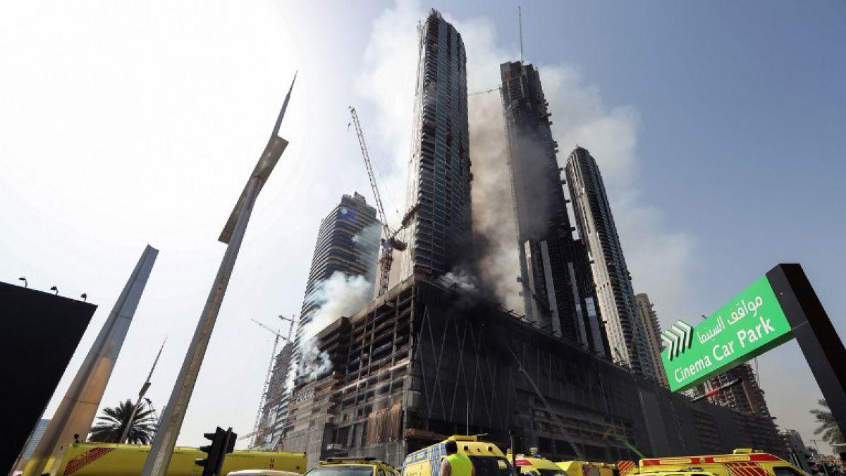 nuevo incendio en dubi cerca de la torre ms alta del mundo