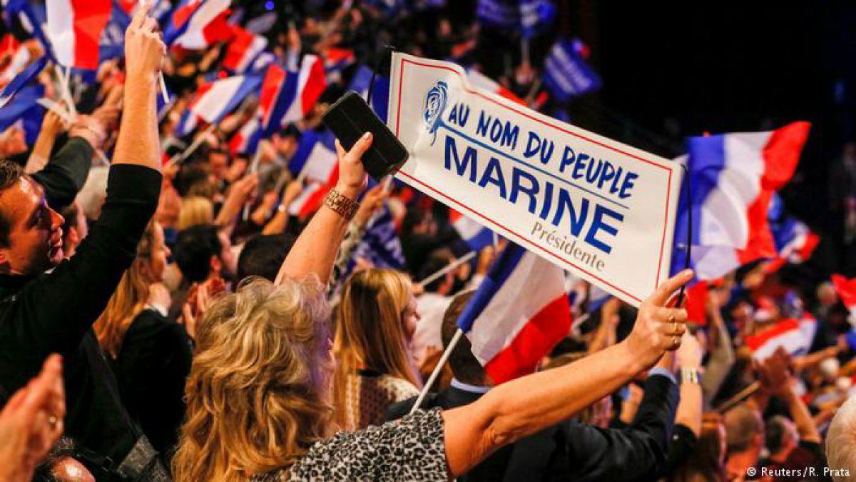 Incendio en la sede de campaña de Marine Le Pen en París