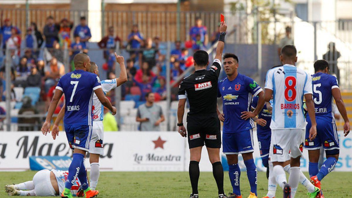 El punto negro de la campaña de Hoyos en la U: Azules registran cinco expulsiones en el torneo