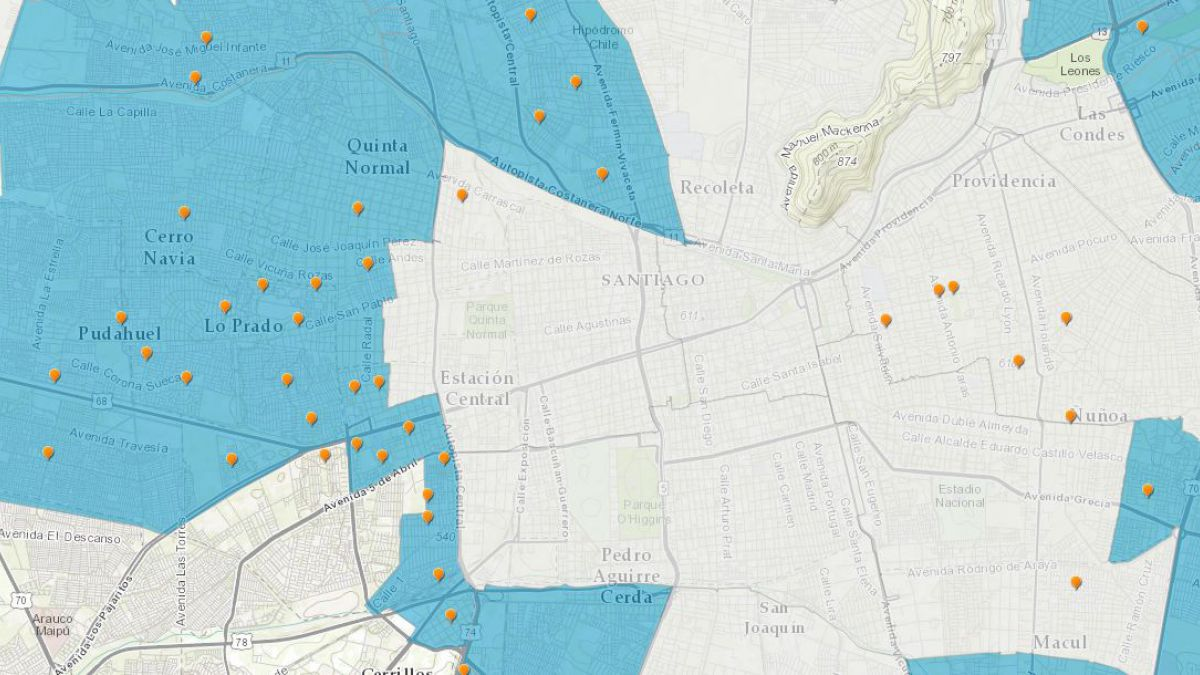 [MAPA] Revisa el estado del suministro de agua comuna por comuna