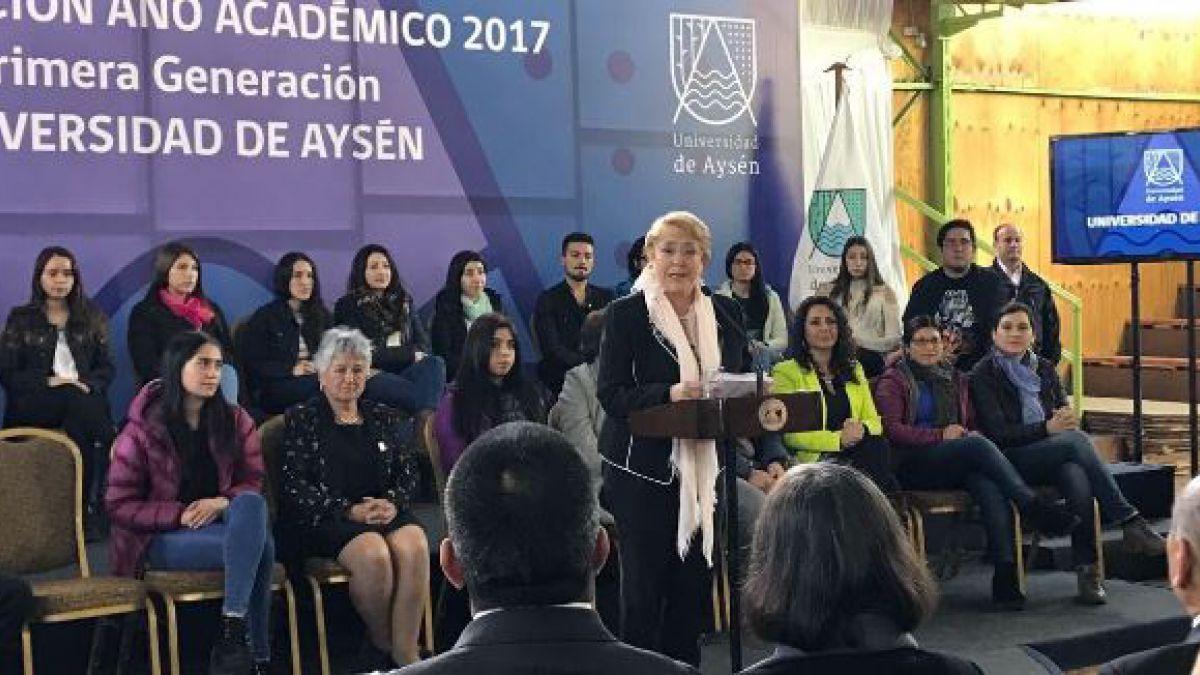 Educación Superior: Bachelet llama a no desandar el camino en materia de gratuidad